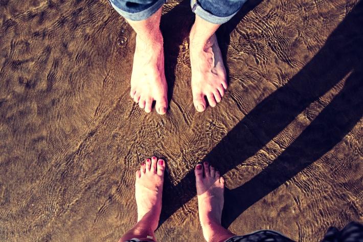 Feet Goa Beach
