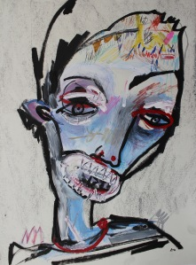 """70'S-DREAMIN'-Mixed-media-on-paper-24""""-x-18""""-20131"""