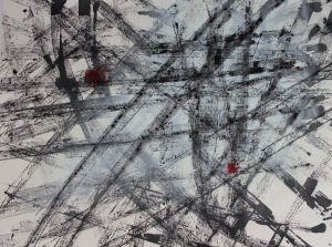 """ARMADILLO-Ink-and-spray-paint-on-paper-24""""-x-18""""-20141"""