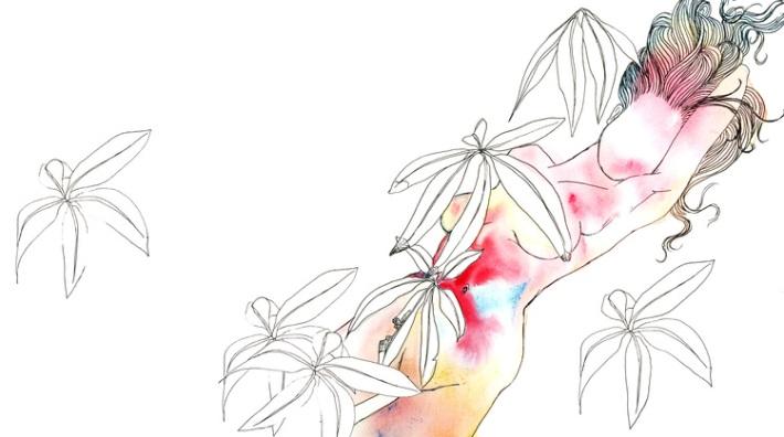 woman+in+flowers